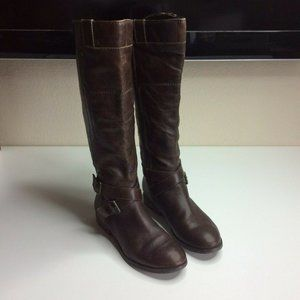 Marc Fisher Womens Leather Riding Boots Zip Up